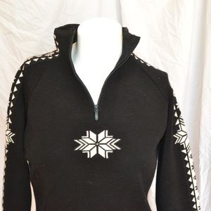 Dale of Norway sweater black white wool S small